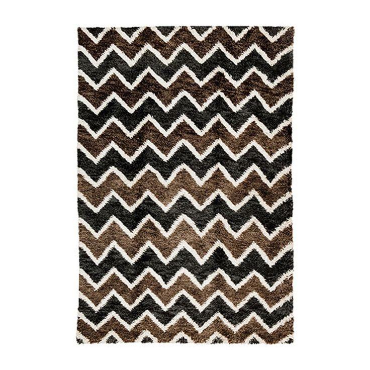 brown u0026 black chloe shag carpet