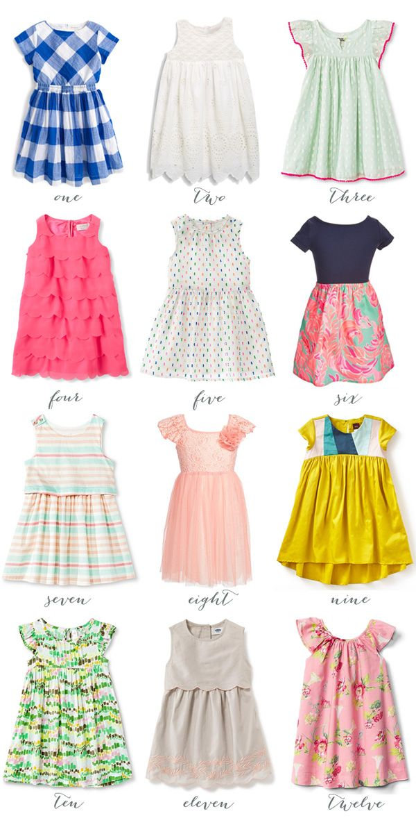 Twelve Spring Dresses for Girls | Thrifty Littles Blog