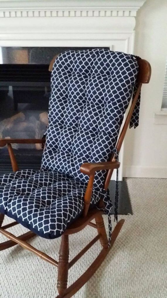 Custom Quatrefoil Rocking Chair Cushions, Glider Replacement Pads, Rocker Cushions, Wooden Rocking Chair Pads by MayberryandMain on Etsy https://www.etsy.com/listing/229230361/custom-quatrefoil-rocking-chair-cushions