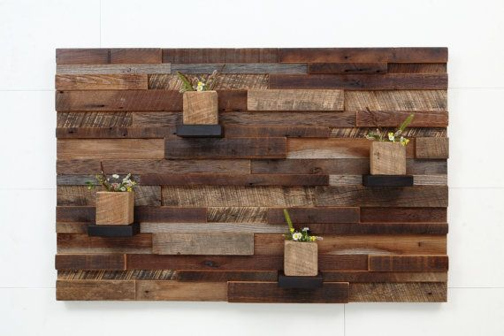 Reclaimed wood wall art 37x24x5 Large art por CarpenterCraig