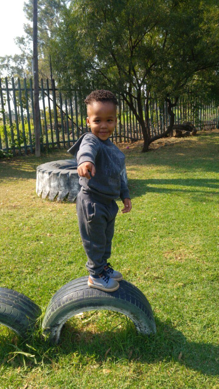 Balancing in preschool garden