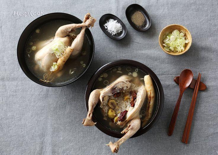 한방 삼계탕 (samgyetang) - 보양식/삼계탕/삼복더위이기는법