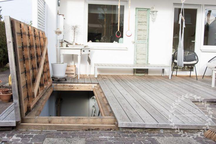 Unsere Holzterrasse   – Janine Koch