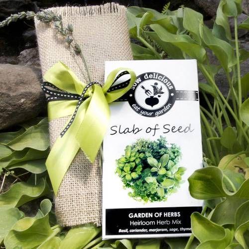 Heirloom Seed Slab - Silver Ribbon Gifts