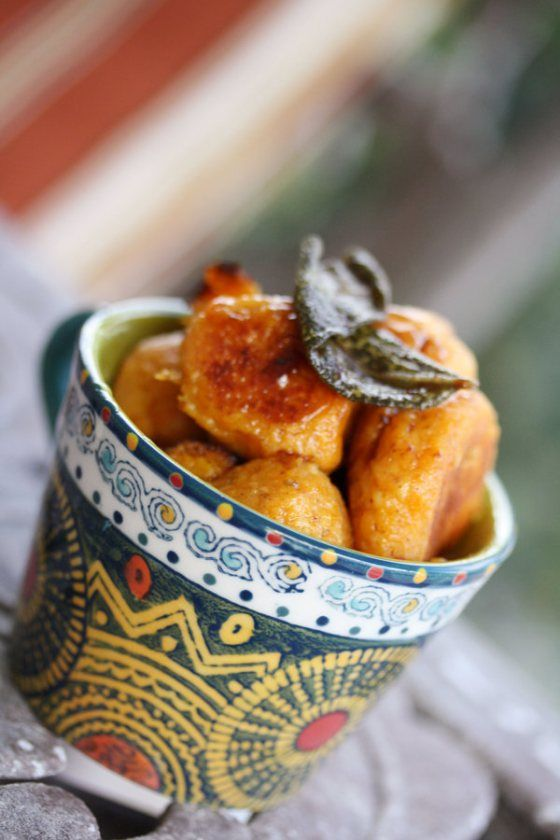 Sweet Potato Gnocchi with Sage and Brown Butter add a little bit of ...