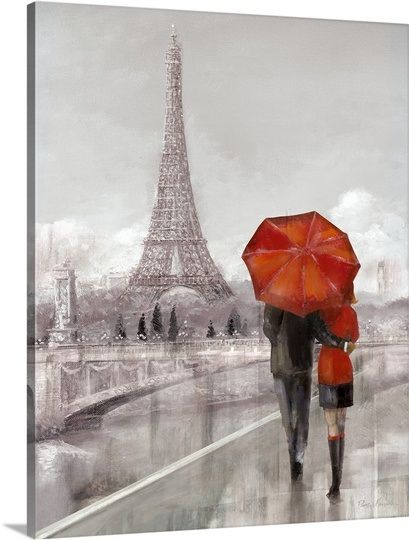Modern couple in paris wall art canvas prints framed prints wall peels