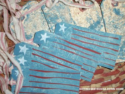 Distressed Donna Down Home: Patriotic Tags