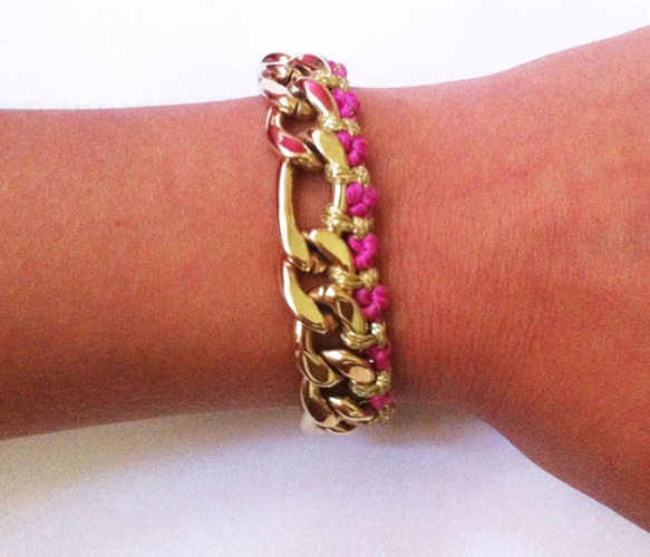 Pink & Gold Bracelet: Bracelets Design, Accessories Obsession, Body Candy, Candy Inspiration, Gold Bracelets, Fun Accessories, Pink And Gold, Pretty, Bling Bling