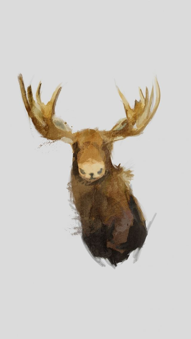 Download Free Hd Wallpaper From Above Link Moose Illustration Minimal Cute Cartoon Wallpapers Iphone Wallpaper Cartoon Wallpaper