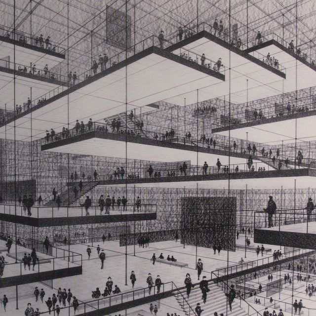 """""""An exciting spatial conception for an exhibition by Conrad Roland."""""""