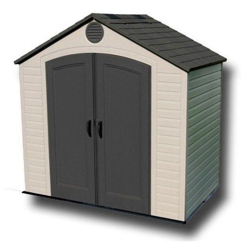 Garden Sheds - Lifetime 8x5 Heavy Duty Plastic Shed