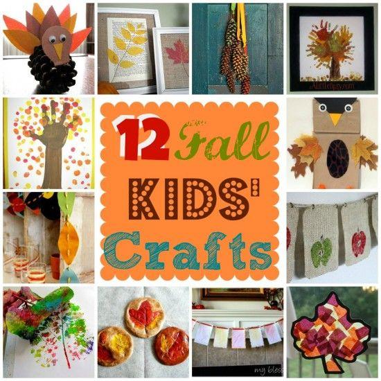 12 Fall Kids' Crafts | MyBlessedLife.net