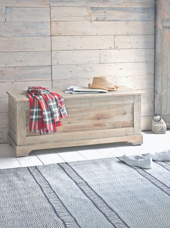 The Clyde storage box is perfectly beached and bleached and has stacks of space for hiding away clutter.