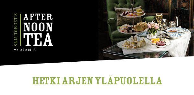 Afternoon Tea 22,90 e| Salutorget Helsinki ravintolat tee kahvilat