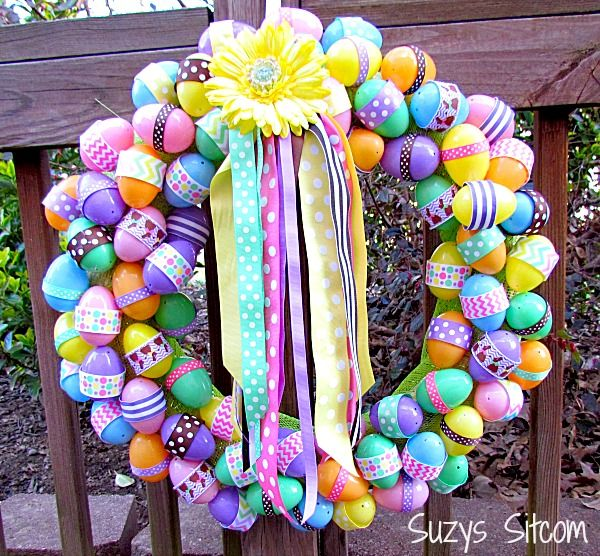 125 best easter outdoor decor images on pinterest easter ideas diy easter ribbon wreath solutioingenieria Choice Image