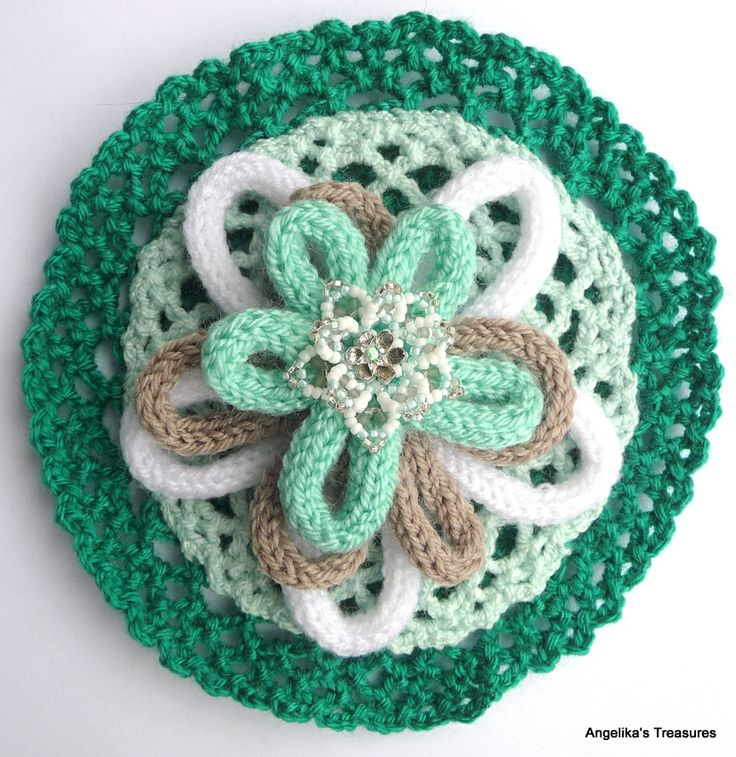 French Knitting Flowers : Best images about punniken spool knitted french