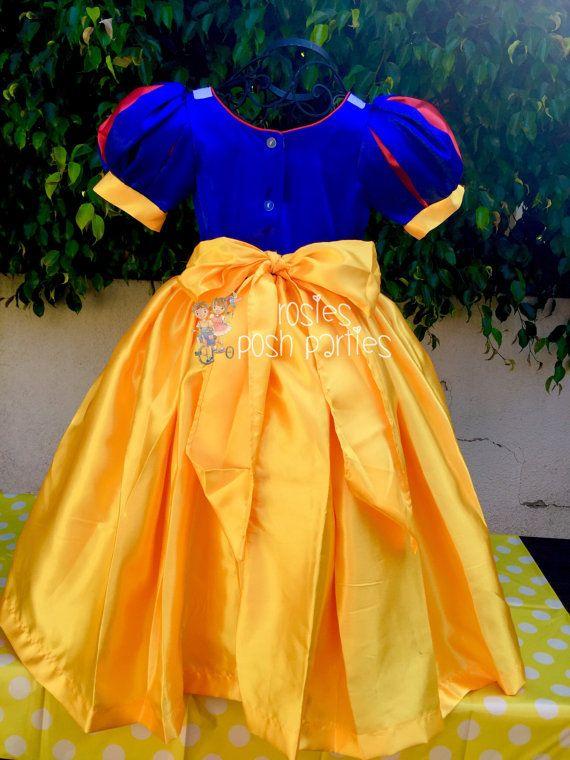 Vestido de Blanca Nieves para disfraz de cumpleaños o sesión
