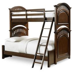 Price Comparisons For Samuel Lawrence 8468-730-8468-731-8468-732-8468-733 Expedition Bunk Twin Bed in Cherry with Ladder Guard Rail and Full Bed Extension Cheap