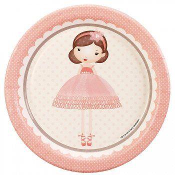8 Petites Assiettes Petite Ballerine