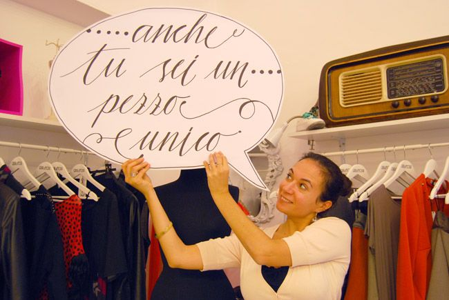 Headline for a shop window | Copywriting by Alessia Attanasio | Calligraphy by Marika Salerno