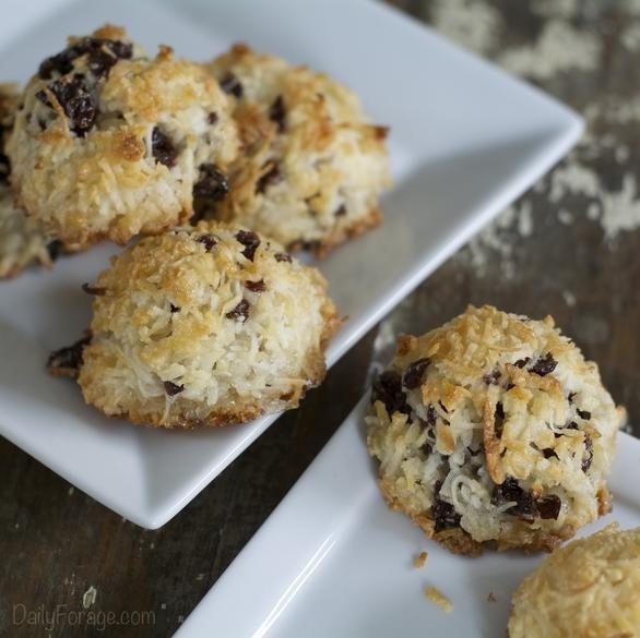 Gluten-free Dairy-free Amaretto Tart Cherry Coconut Macaroons ...