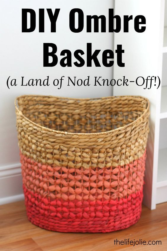 This DIY Ombre Basket is a Land of Nod knock-off that is super easy to make and saves a ton of money! It has the dip dye effect and look fantastic in any room, especially a nursery!