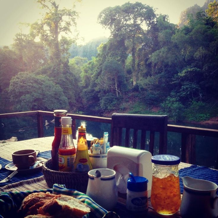 Having breakfast with a view :-) #laos #asia #southeastasia #riverviewresort #konglorcave #konglor #thakhekloop #thakhek #travel #travelblogger #wanderlust #backpacking #travelstoke #instatravel #lonelyplanet #onetwotrip by mytravelsecret