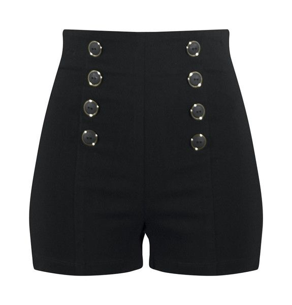 Brendon Urie// Miss Jackson (music video)  I believe this is the buyable version of the previously pinned pair.   black retro style high waisted pin me up shorts.