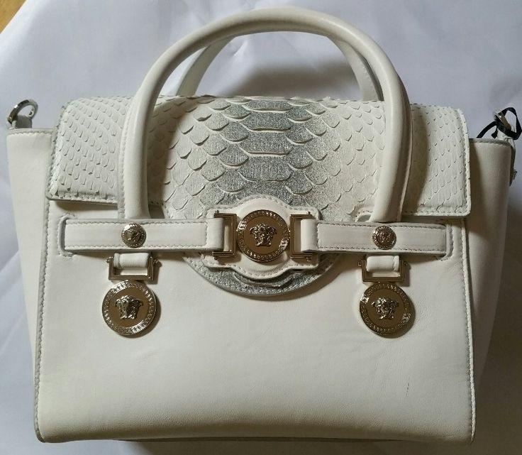 Sac à main cuir python blanc Versace : Coups de Coeur : Achetez des articles de luxe neufs certifiés
