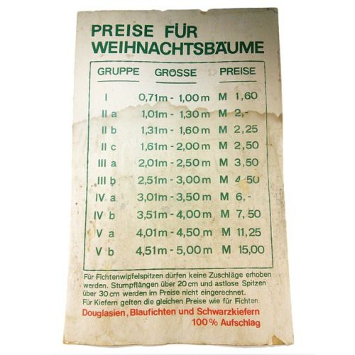 "ddrmuseum: ""How much did you pay for your Christmastree? That's what you had to spend in DDR. // Wie viel habt ihr in für euren Weihnachtsbaum bezahlt? So viel musste man in der DDR dafür ausgeben."