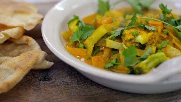 Eén - Dagelijkse kost - groentecurry met papadums