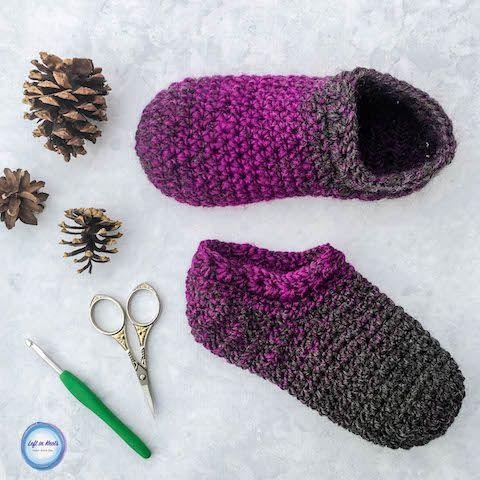 Meias Slipper Crochet Star Gazer - Livre Um Padrão Skein