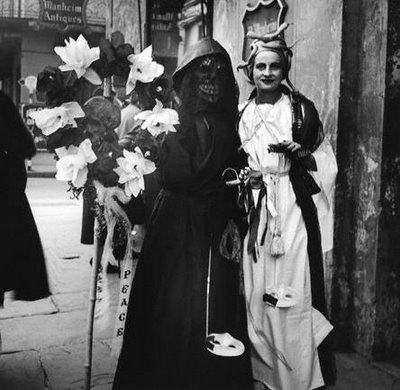 Death & Medusa mardi gras costumes, 1937-40