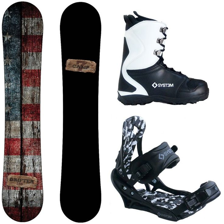 X-Mas 2017 Camp Seven Drifter and APX Men's Snowboard Package