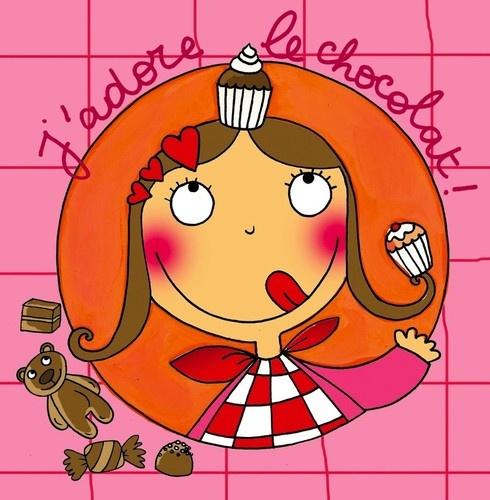 keladeco.com - #tableau enfant j'adore le #chocolat, idée cadeau #naissance fille, déco chambre bébé