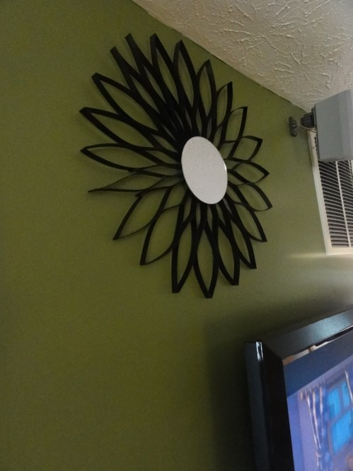 How to make a decorative mirror out of cereal boxes cool for Decorative crafts mirrors
