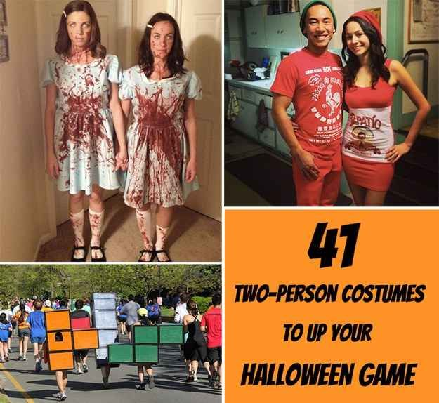 41 Two-Person Costumes That Will Up Your Halloween Game- My costume idea isn't on this list (I'm not telling, you'll have to wait and see), but a lot of these were great ideas