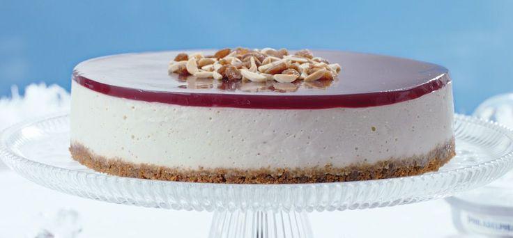 Philadelphia Recept - Philadelphia cheesecake med pepparkakor