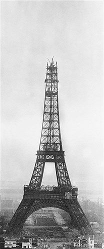 Almost there! The Eiffel Tower under construction in 1888