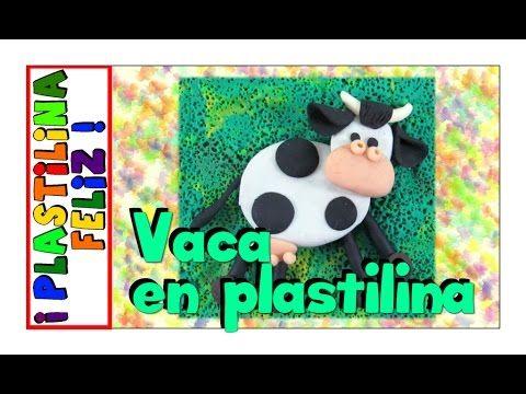 vaca en plastilina, vaca de plastilina