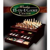 15 in 1 Wooden Game Center with Favorite Classic Games  List Price: $49.99 Discount: $17.00 Sale Price: $32.99