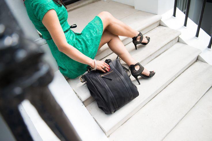 Black Satchel, cross body bag, leather, fairtrade, www.bettyandbetts.com