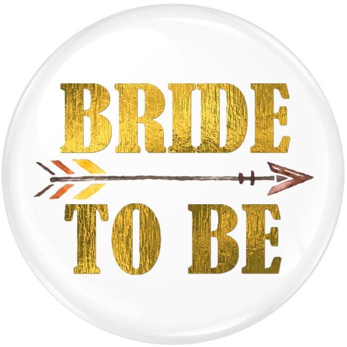 Bride To Be Badge Foil with Arrow