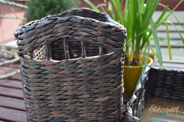 Újrahasznos: újságpapírból font tárolódobozok irodába, otthonra | Életszépítők