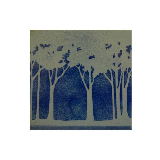 Hot Enamel Picture - Moonlit Trees £70.00