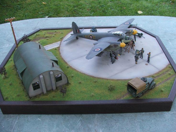 Mosquito FB VI & Austin Tilly 1/48 Scale Model Diorama