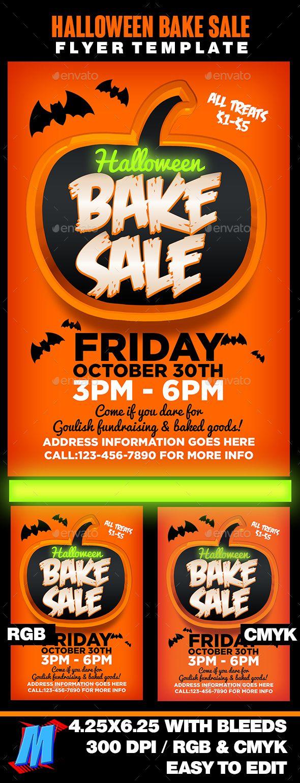 halloween bake sale flyer template flyer template flyers and halloween. Black Bedroom Furniture Sets. Home Design Ideas