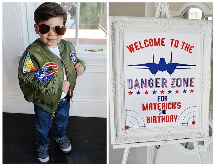 Birthday Boy + Welcome Sign from a Top Gun Themed Birthday Party via Kara's Party Ideas | KarasPartyIdeas.com (21)