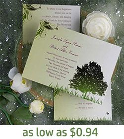 20 best Green Wedding Invitations images on Pinterest