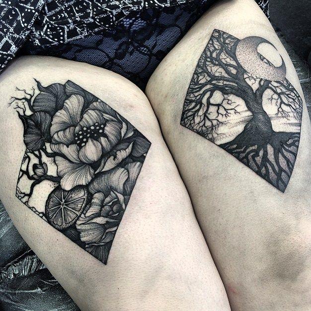 Back leg tattoo idea or knee